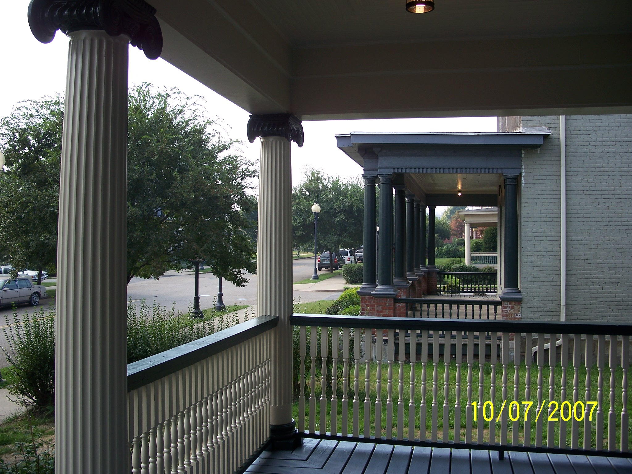 View South from the Westfall House Porch to the Weir Mansion Porch